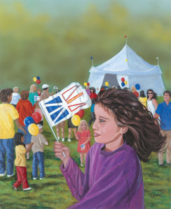 F is for Flag (Newfoundland Flag)