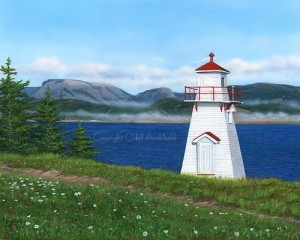 Lighthouse At Woody Point